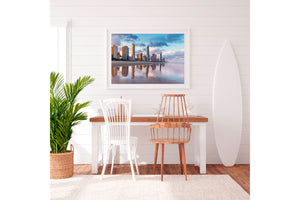Surfers Paradise Wall Art Print White frame
