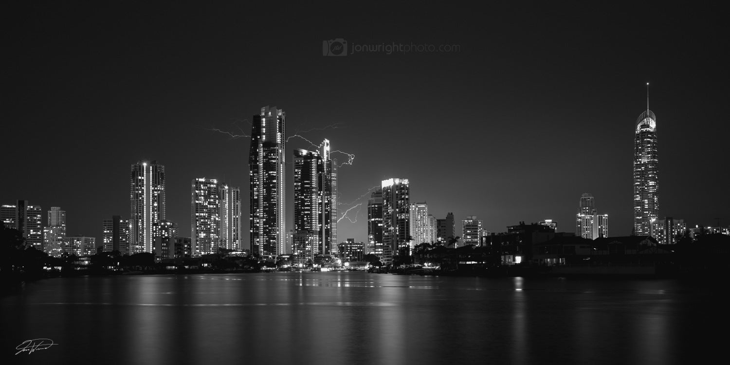 Surfers Paradise Photographic Wall Art - Black and white landscapes ...