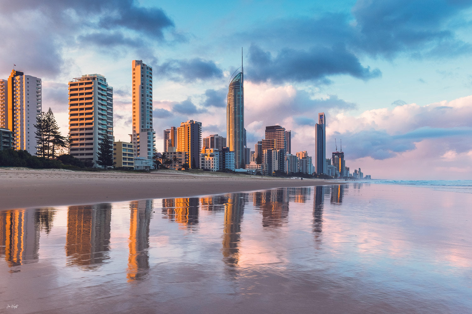 Surfers Paradise Sunset Print Gold Coast