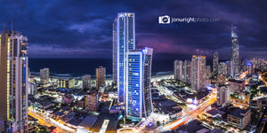 Midnight City Panorama - Surfers Paradise, QLD Australia