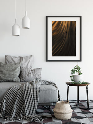 Textures Of Power Abstract Wall Art Framed Black
