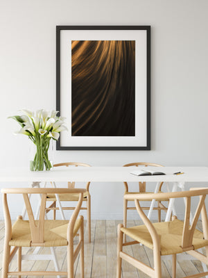 Textures of Power abstract wall art black frame ocean art