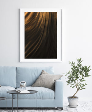 Textures of power white frame ocean abstract prints