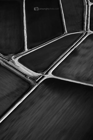Black and White abstract aerial photography