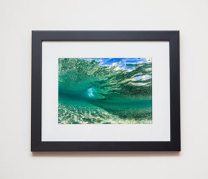 Classic black framed metallic print