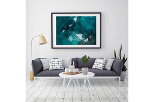 Abstract Aerial beach print