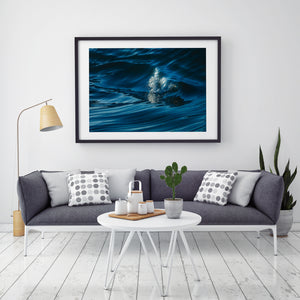 Water World Black Frame Wave Photography