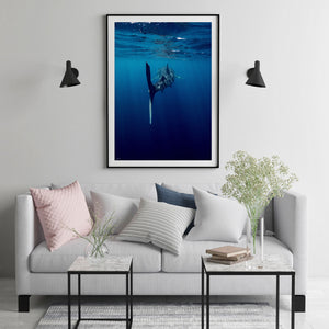Blue Photographic Frame Art on wall