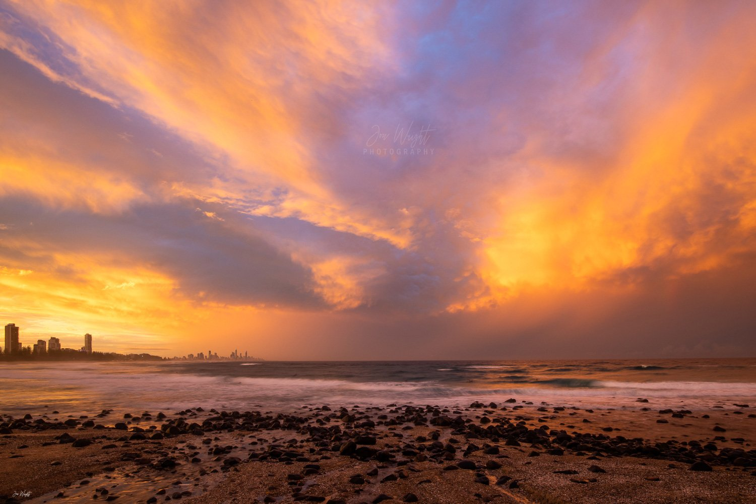 Burleigh Heads Sunset art and print
