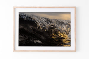 Wave Art and surf prints oak frame
