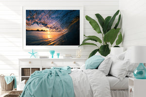 Light The Way White frame Surf Wall Art