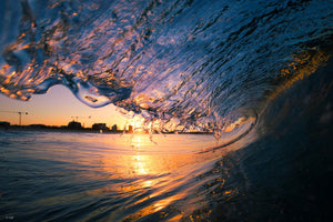 Sunset wave photography gold coast