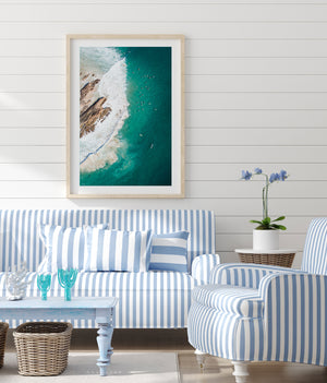 Snapper Rocks Gold Coast Wall Art Abstract aerial print