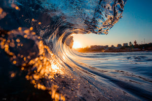 Sunset Wave Photography Sunshine Coast Australia