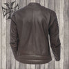 Raptor leather riding jacket tobacco brown