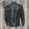 Dominator leather riding jacket black
