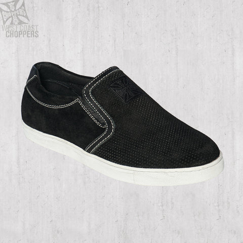 Outlaw Suede Slip-Ons Black
