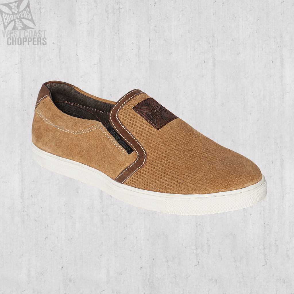 Outlaw Suede Slip-Ons Chestnut