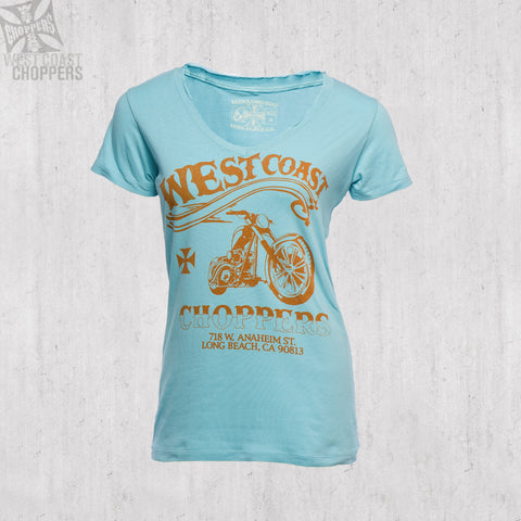 El Diablo Ladies Tee-Blue
