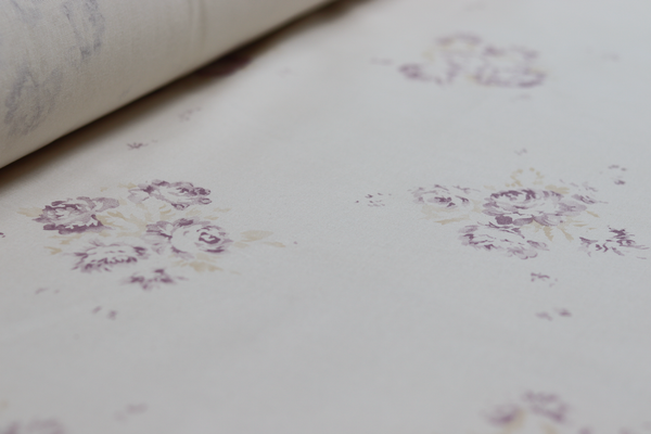 'Camille' - Vintage Lilac on 'Antique' Cotton