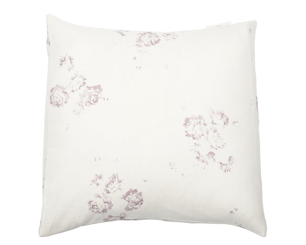 'Camille' - Vintage Lilac cushion cover on Oyster Linen