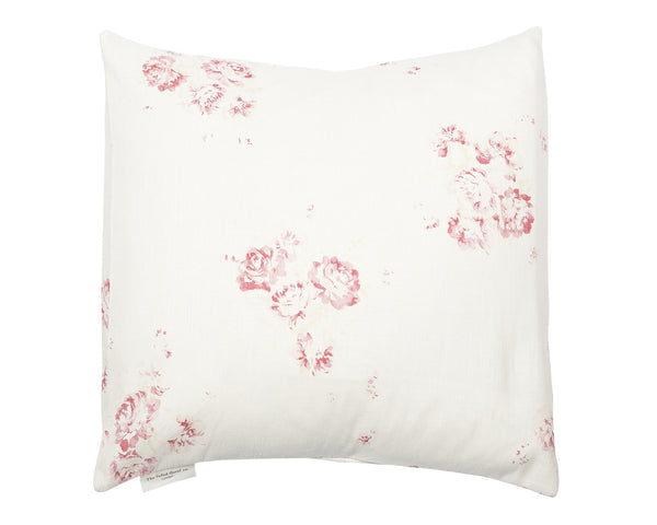 'Camille' - Cerise & Fawn cushion cover on Oyster Linen