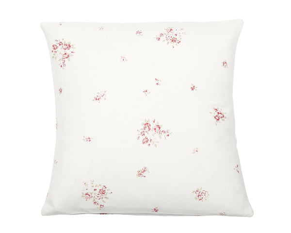 'Petite Fleur' cushion cover on Oyster Linen