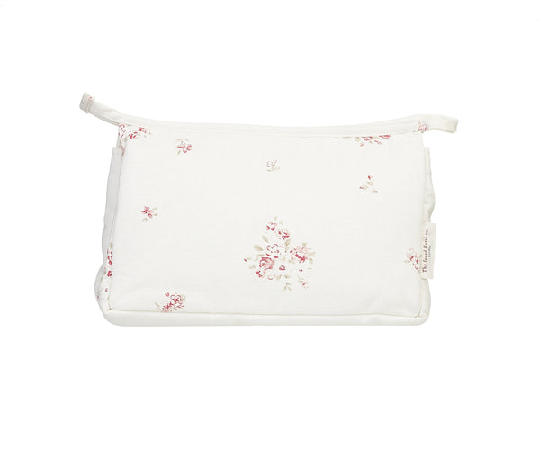 'Petite Fleur' make-up bag on Oyster Linen