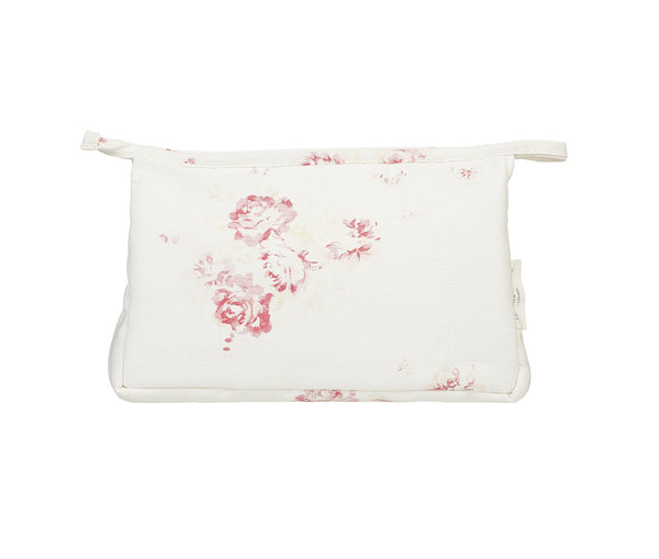'Camille' - Cerise & Fawn make-up bag on Oyster Linen