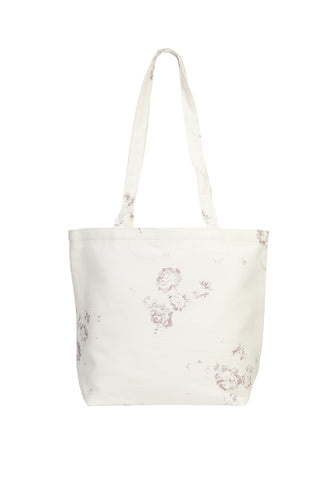 linen shopper bag - lilac