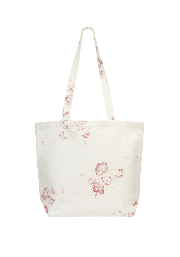 linen shopper bag - cerise & fawn
