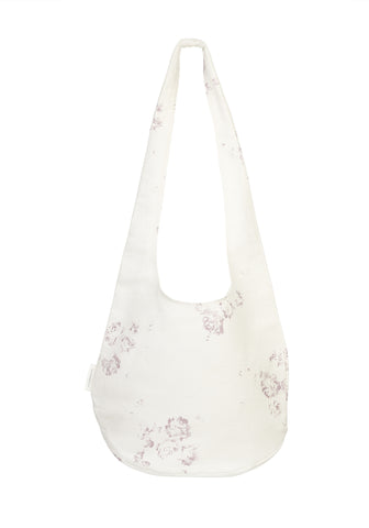 boho shopping bag - lilac