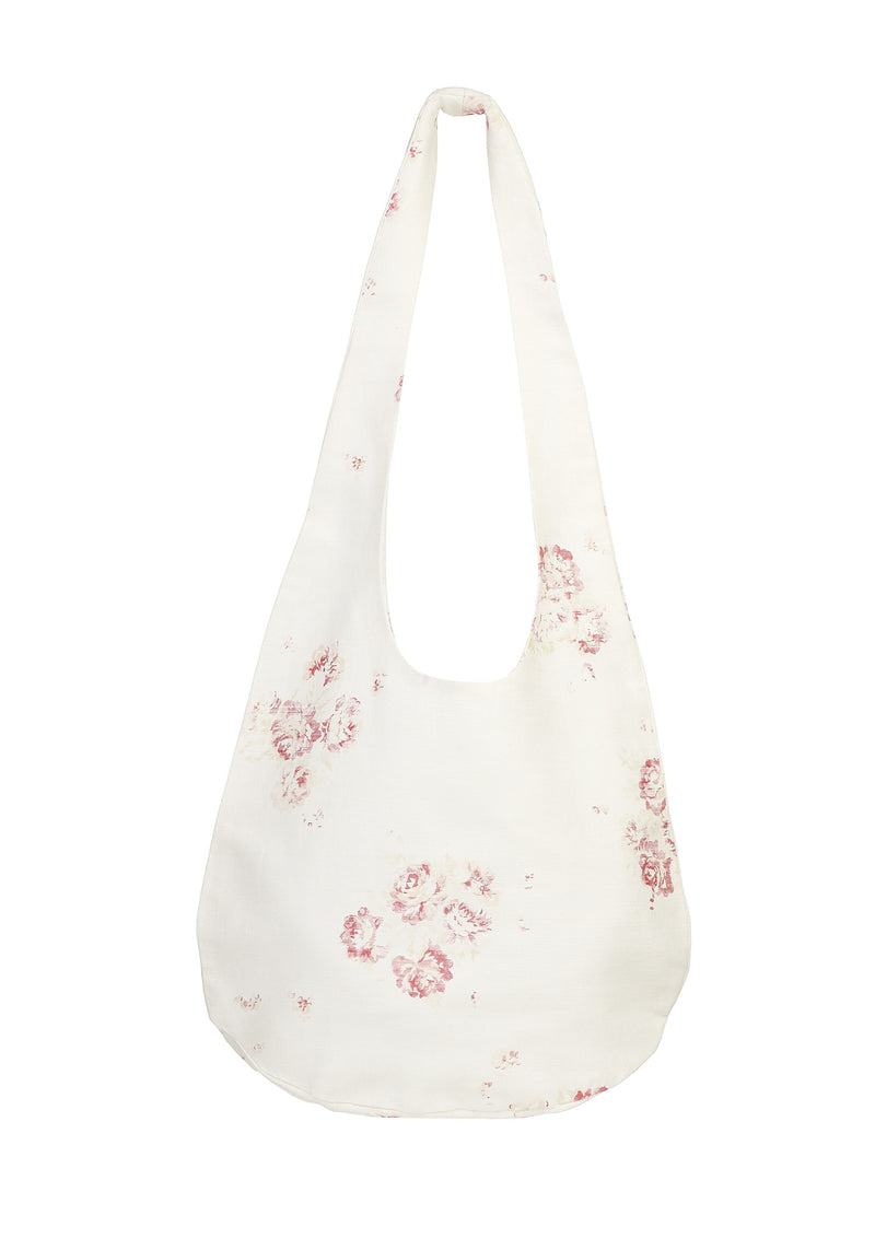 'Camille' - Cerise & Fawn boho beach bag on Oyster Linen