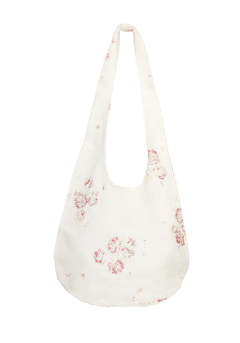 boho shopping bag - cerise