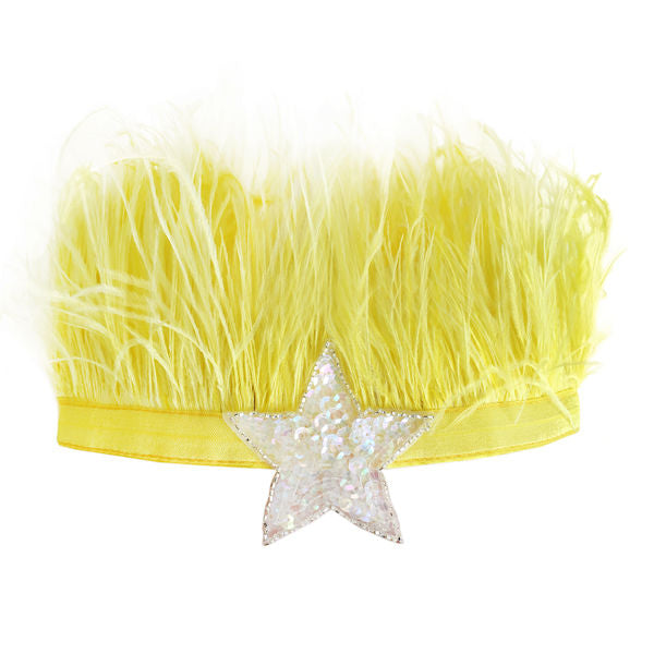 oh baby! Lily Crown Neon Yellow - Iridescent Sequin Star