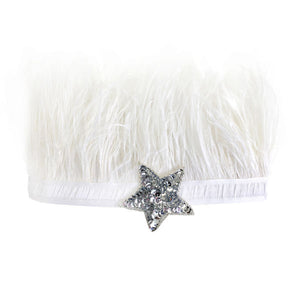 oh baby! Lily Crown White / Silver Sequin Star