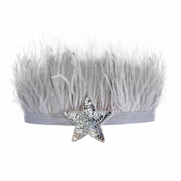 oh baby! Lily Crown Grey / Silver Sequin Star