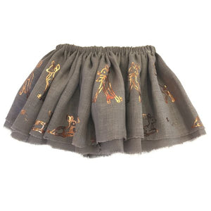 oh baby! Fairy Skirt - Printed All Over Deer Rose Gold Foil - Mushroom