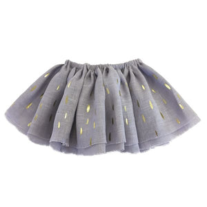 oh baby! Fairy Skirt - All Over Blizzard in Gold Foil - Dusty Lavender