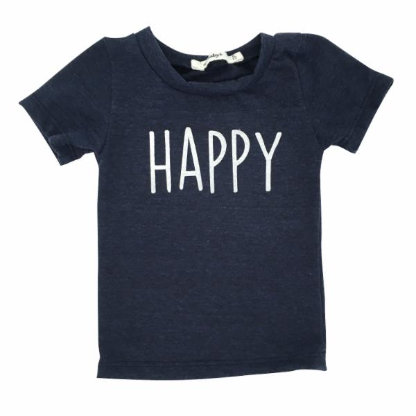 oh baby! Short Sleeve James Dean Tee - Happy - Navy Heather