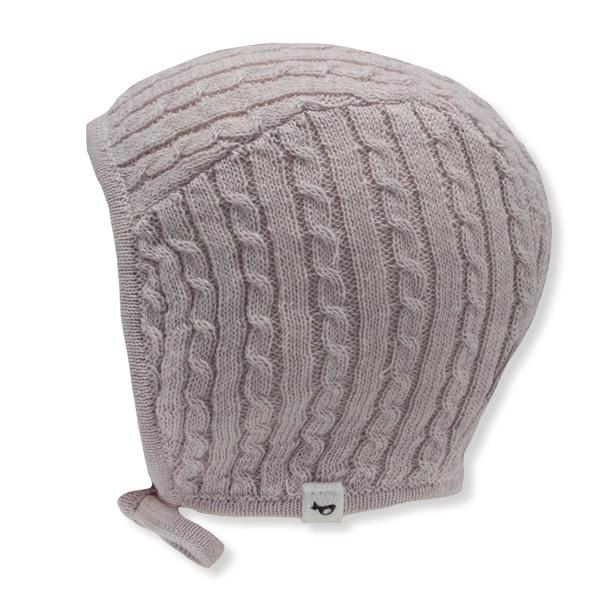 oh baby! Cable Knit Pilot Cap - Blush