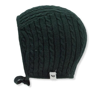 oh baby! Cable Knit Pilot Cap - Forest