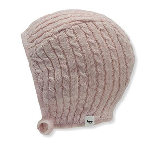 oh baby! Cable Knit Pilot Cap - Pale Pink