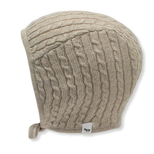 oh baby! Cable Knit Pilot Cap - Sand