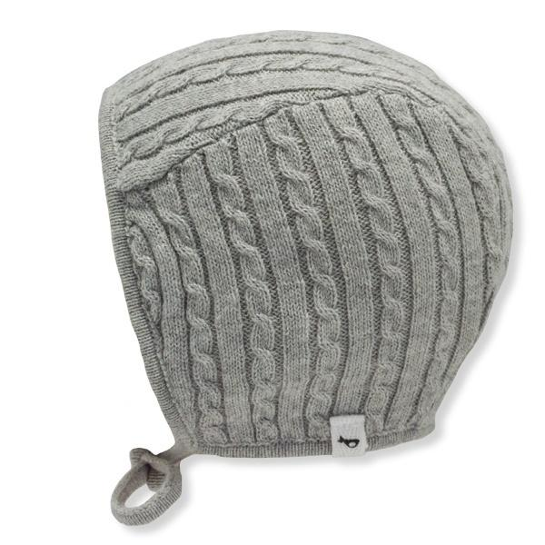 oh baby! Cable Knit Pilot Cap - Gray