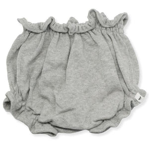 oh baby! Flat Knit High Waisted Tushie Diaper Cover  - Gray