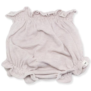 oh baby! Flat Knit High Waisted Tushie Diaper Cover  - Pale Pink