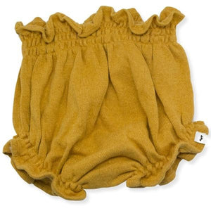 oh baby! Flat Knit High Waisted Tushie Diaper Cover  - Mustard