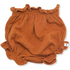 oh baby! Flat Knit High Waisted Tushie Diaper Cover  - Rust