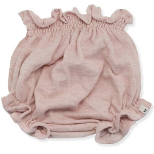 oh baby! Flat Knit High Waisted Tushie Diaper Cover  - Blush